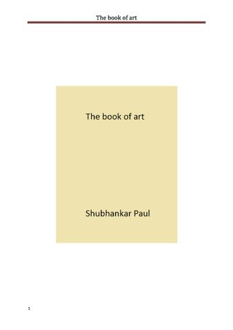 The book of art
