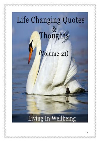Life Changing Quotes & Thoughts (Volume 21)
