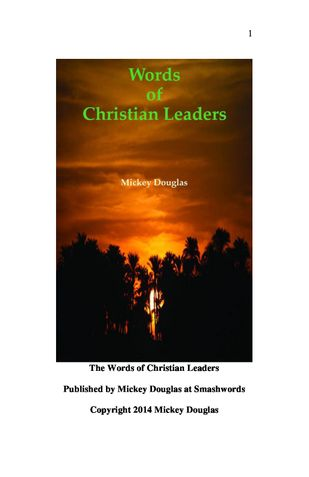 Words of Christian Leaders