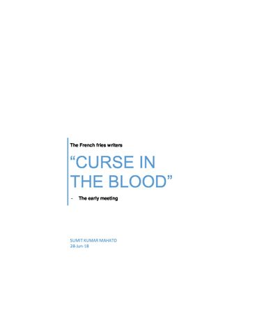 """""""CURSE IN THE BLOOD"""""""