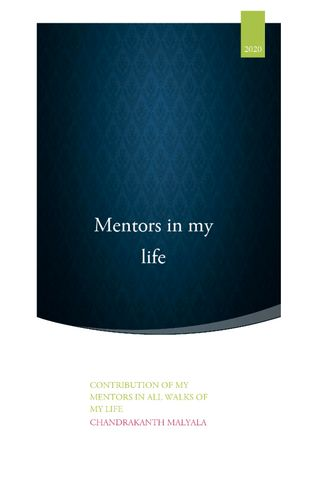 Mentors in my life