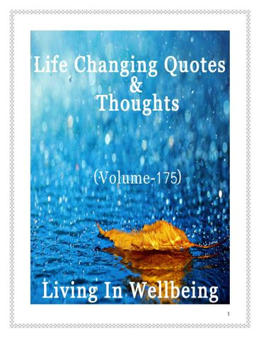 Life Changing Quotes & Thoughts (Volume 175)