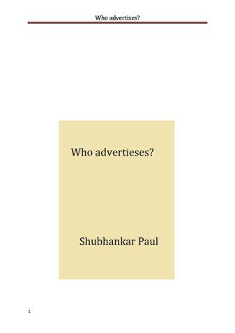 Who advertises?
