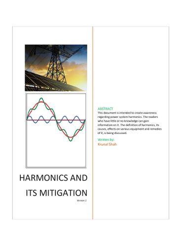 The fundamental of Power System Harmonics
