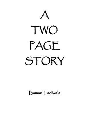 A Two Page Story
