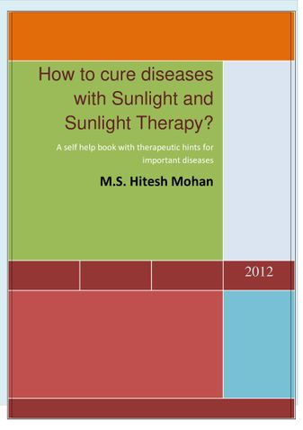 How to cure diseases with Sunlight and Sunlight Therapy?
