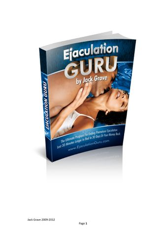 Ejaculation Guru Review PDF eBook Book Free Download
