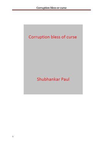 Corruption bless or curse