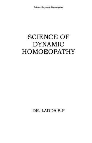 Science Of Dynamic Homoeopathy