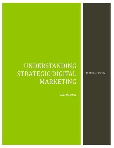 Understanding Strategic Digital Marketing
