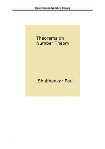 Theorems on Number Theory