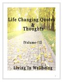 Life Changing Quotes & Thoughts (Volume 112)