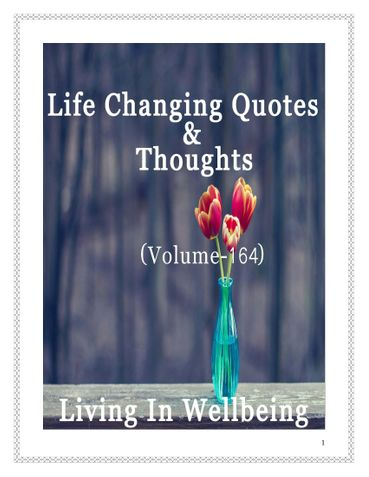 Life Changing Quotes & Thoughts (Volume 164)