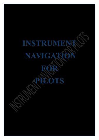 INSTRUMENT NAVIGATION FOR PILOTS