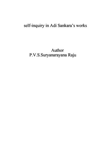 Self-inquiry in Adi Sankara's works
