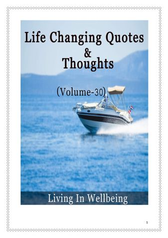 Life Changing Quotes & Thoughts (Volume 30)
