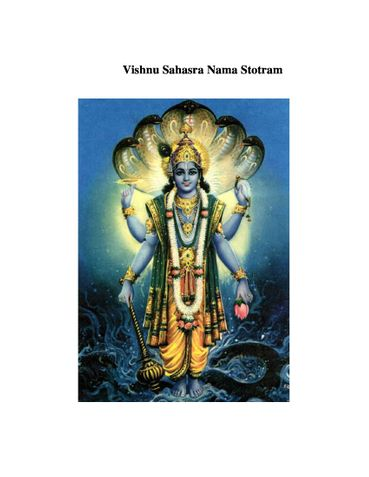 Vishnu Sahasra Nama Stotram