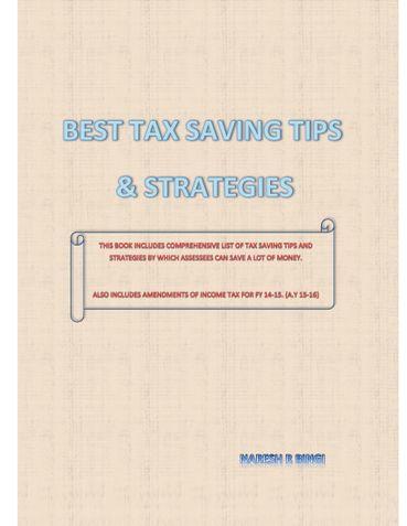 BEST TAX SAVING TIPS & STRATEGIES